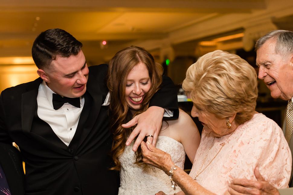 Grandparents Admiring The Wedding Ring
