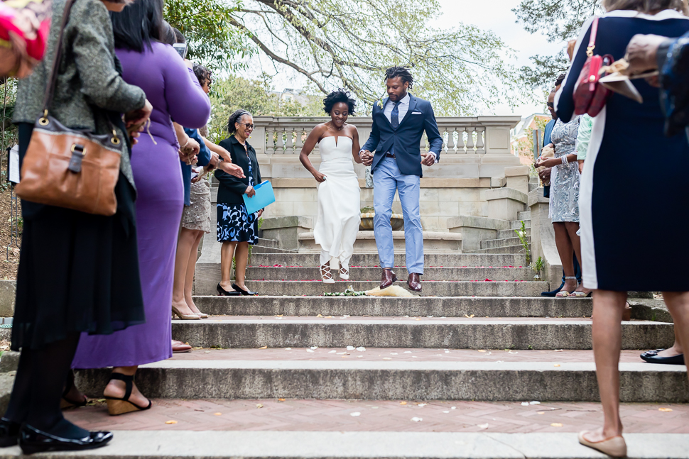 DC Bride and Groom Jump The Broom