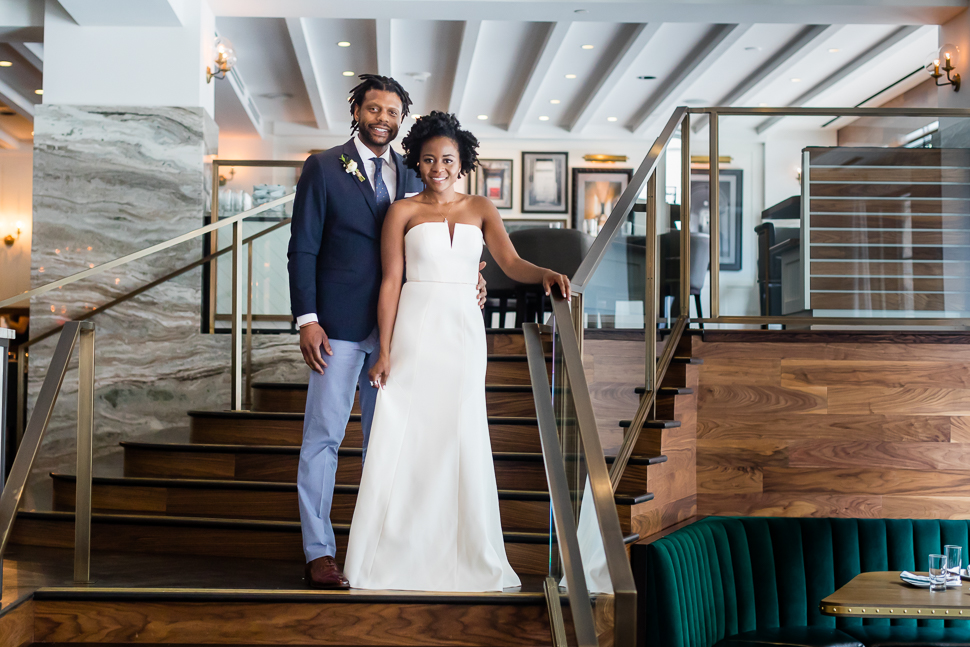 Bride and Groom St Gregory Hotel DC