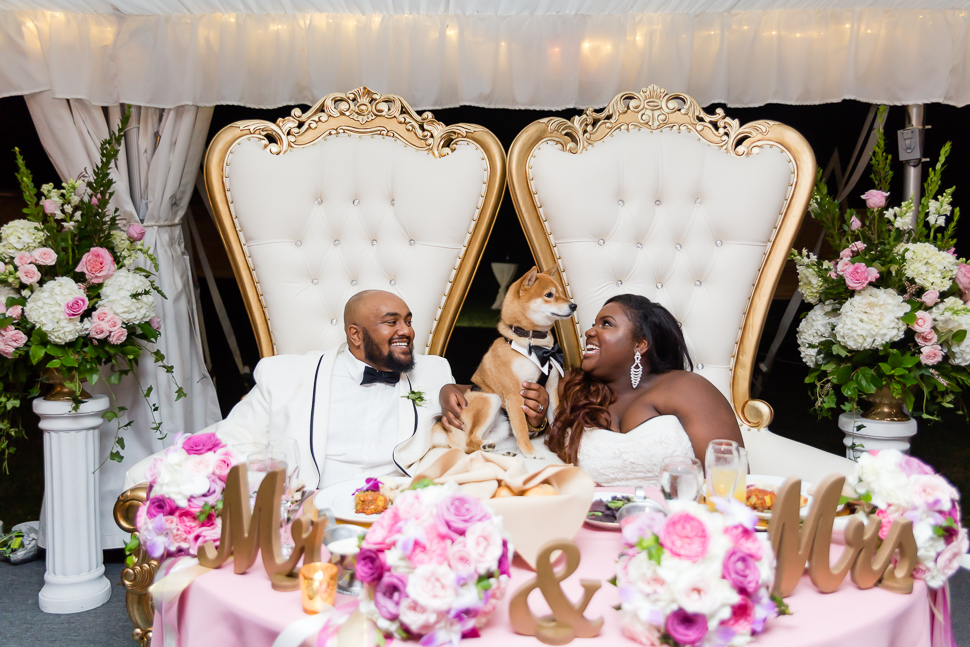 Belmont Manor Wedding Couple With Puppy