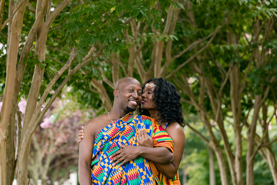 Ghanaian Wedding Couple Portrait