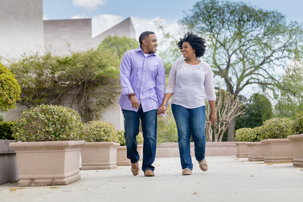 african american couple engagement session